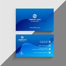 Background For Business Cards Business Card Template With Blue Wave Background
