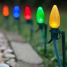 Diy Stakes For Christmas Lights Christmas Lights C9 Multicolor Christmas Led Pathway Lights
