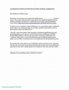 Cover Letter To Journal Editor Cover Letter To Editor Of Journal Cover Letter To Editor