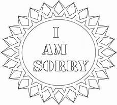 Apology Coloring Pages Im Sorry Coloring Pages Home Sketch Coloring Page