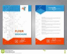 Handbill Size Modern Brochure Abstract Flyer With Simple Dotted Design