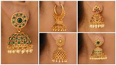 Earrings Design Images Latest Gold Jhumka Earring Designs Artsycraftsydad