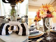 4 black white striped napkins gold modern black white