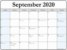 Calendar 2020 September Printable September 2020 Calendar With Holidays