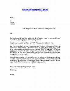 How To Negotiate A Job Offer Job Offer Salary Negotiation Letter Format By