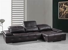 modern chocolate brown sectional sofa he leather