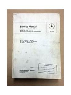 Mercedes Benz Factory Workshop Service Manual 1968 73 Models