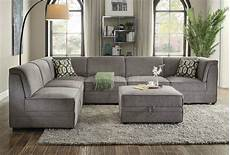 Modular Sofa Sectionals 3d Image by Bois Modular Sectional Sofa 7pc Set 53780 Gray Velvet By Acme