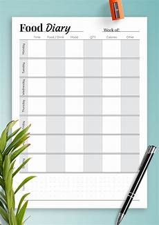 Food Diary Chart Template Download Printable Simple Food Diary Pdf