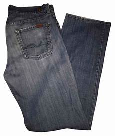 7 For All Mankind Men S Jeans Size Chart 7 For All Mankind Distressed Men S Straight Relaxed Fit