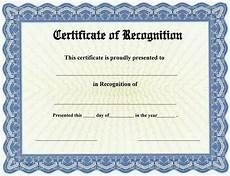 Text For Certificate Of Recognition 20 Certificate Of Recognition Template Word Excel Pdf
