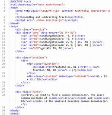 Html Code Html Code For A Simple Khan Academy Exercise Download
