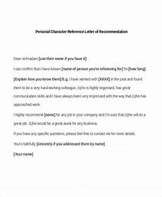 Example Of A Personal Reference Letter Free 5 Sample Personal Recommendation Letters In Pdf Ms