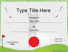 Golf Certificates Templates Certificate Street Free Award Certificate Templates No
