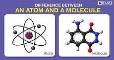 Molecule Vs Atom Difference Between Atom And Molecule In Tabular Form
