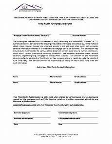 Blank 3rd Party Authorization Form Sls Third Party Authorization Form Fill Online