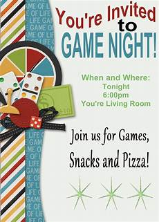 Game Night Invitation Template Game Night Printable Invitation And Game Review
