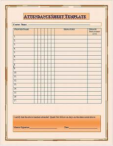 School Attendance Template 11 Free Sample School Attendance Sheet Templates