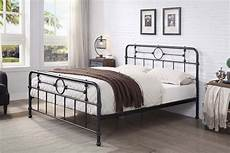 lyndhurst black metal vintage style bed frame