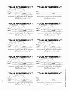 Appointment Reminder Template Word Printable Optometrist Appointment Reminder Cards