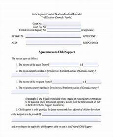 Child Support Agreement Free 8 Sample Child Support Agreement Forms In Pdf Ms Word