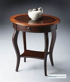 oval accent table cherry nouveau oval accent table from butler 532211