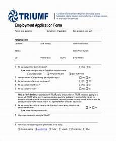 Generic Printable Employment Application Free 11 Sample Generic Employment Application Forms In
