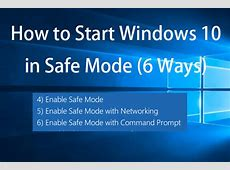 Lenovo Win 10 Boot In Safe Mode   Lenovo and Asus Laptops