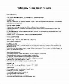 Resume Receptionist Samples Receptionist Resume Template 8 Free Word Pdf Document