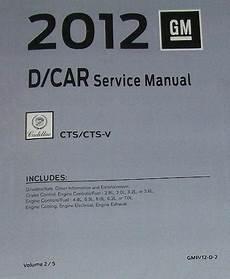 2012 Cadillac Cts Cts V Factory Service Manual 5 Vol Set