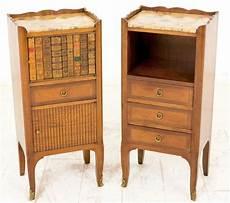 Bedside Cabinets Pair Of Walnut Bedside Cabinets Lp17 13