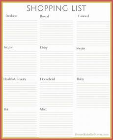 Free Shopping List Free Printables From Premeditated Leftovers