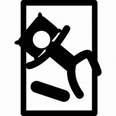 person sleeping on single bed in diagonal position free icon