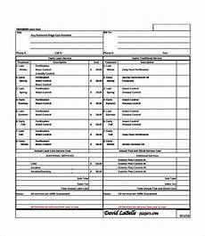 Lawn Care Bid Template Bid Sheet Template 10 Free Word Pdf Documents