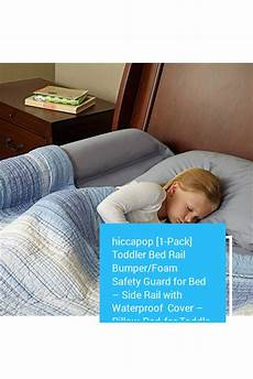 hiccapop 1 pack toddler bed rail bumper foam safety