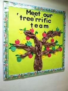 Employee Bulletin Boards Back To School Bulletin Board Apple Tree With Staff