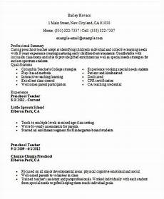 Best Teacher Resume 35 Printable Teacher Resume Templates Free Amp Premium