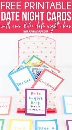 Date Night Card Templates Free Printable Date Night Cards Amp 150 Date Night Ideas