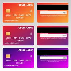 Credit Card Design Template Credit Card Vector Template Card Templates Creative Market