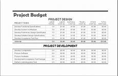 Project Budget Template Excel Project Budget Templates For Ms Excel Excel Templates