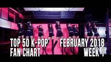 2018 Pop Charts Top 50 K Pop Songs Chart February 2018 Week 1 Fan Chart