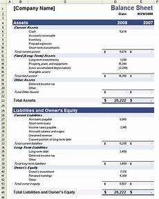 Sample Excel Balance Sheet Sample Balance Sheet Template For Excel
