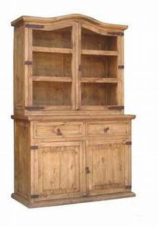 rustic small 2 pc china cabinet western solid real wood