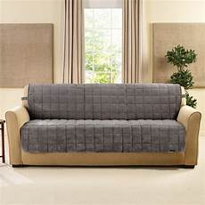 sure fit deluxe comfort quilted armless box cushion sofa