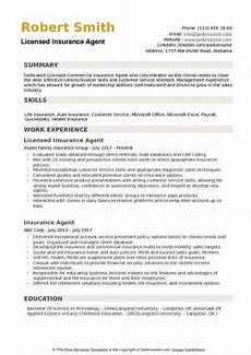 Insurance Agent Resumes Insurance Agent Resume Samples Qwikresume