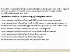 Personality Interview Questions And Answers Top 10 Personality Psychologist Interview Questions And