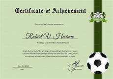 Soccer Certificate Templates For Word Football Achievement Award Design Template In Psd Word