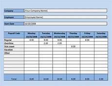 Excel Spreadsheet Timesheet Template Free 17 Sample Payroll Timesheet Templates In Google Docs