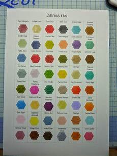 Ink Color Chart Simply One Of A Kind Distress Ink Colour Chart