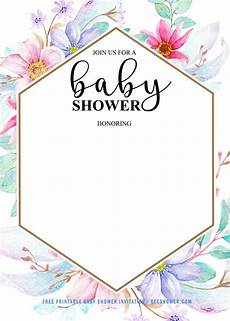 Baby Shower Invite Backgrounds Free Baby Shower Invitation For Girl Free Printable